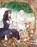 The Crow, the Owl and the Dove by Nacrym