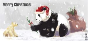 Merry Xmas from Panda Claus by Tanqexe