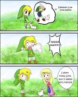 Toon Link and a Cacco by IkouKaabii