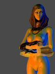 Mass Effect 3 - Tali nude render by anorexianevrosa