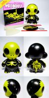 Halloween Mini Munny Custom by theyellowdino