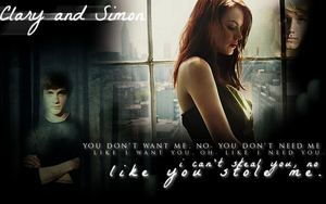 You--Clary and Simon Wallpaper by avatar-fangirl