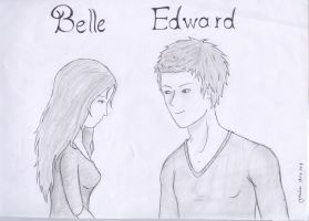 Belle and  Edward by zilah13