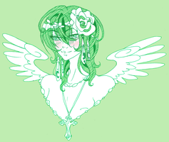lil green angel by MMtheMayo