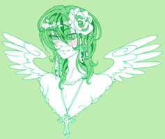 lil green angel by BlackMayo
