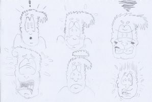 Cartoon emotions by Inventor757