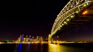 Sydney Harbour Bridge and Skyline by andyhutchinson
