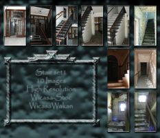 stair interior set1 by Wicasa-stock
