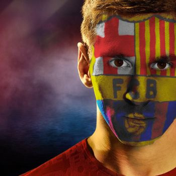 Leo Messi Facepaint Effect by HV by HariharanVishal