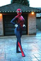 SpiderGirl cosplay by burningdreams76