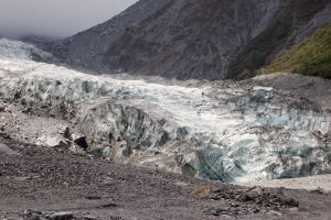 NZ Glacier steps pebble foreground by Chunga-Stock