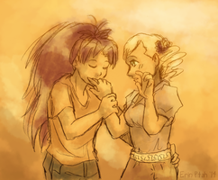 Femslash February 2014 - KyoMami by ErinPtah