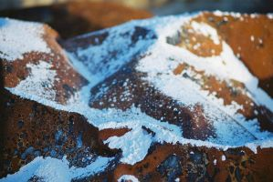 Snow Capped Rust-ic Mountains by HerbstHayabusa