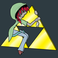 Chester nomming Triforce ID by s1k0-SIDEIK