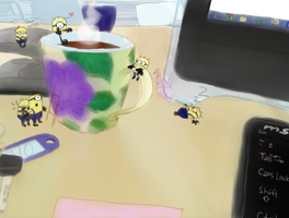 The Minions and Coffee by p3d9burhex