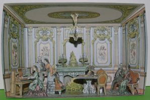 Le Salon - French Vintage Papercraft by SarienSpiderDroid