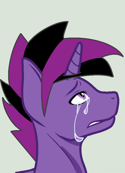 Crying because of something by MidnightCoda