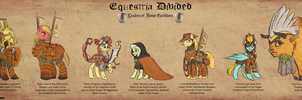 Equestria Divided Earthborn Leaders (Re-Upload) by Fujin777