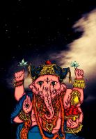 Ganesha ( finished ) by Novaadwhite