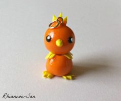 Torchic Clay Charm by Rhiannon-San