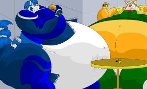 Very Fat Krystal and Fox. by Virus-20