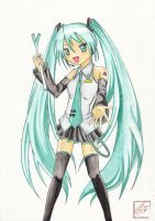 Hatsune Miku by acidproject