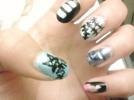 Soul Eater Nails by Eri-nyan