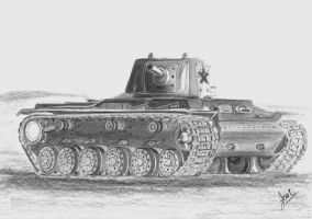 KV1  tank redraw by p40kittyhawk
