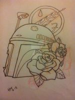 Boba Fett Tattoo Design by Hobojay