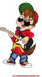 Alvin and his Guitar by RockinChipmunks