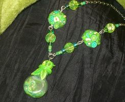 Green Vitamins - handcrafted Necklace by Ganjamira