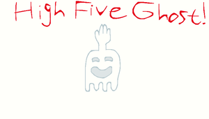 high five ghost by Sphere-of-Fantasy