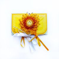 quilling envelope Yellow by othewhitewizard
