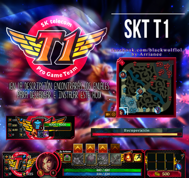 SKT T1 HUD| League Of Legends by arrianee