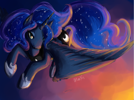 Luna at Sunset by Maexis