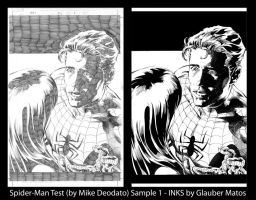 Spider-Man Ink Sample Test 1 by GlauberMatos