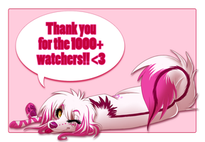 Thank you for 1000+ by SodaButtles