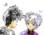 Killua and Hiei by LordRoc