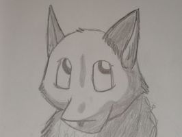 Quick fox sketch by JackleRules