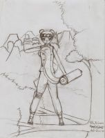 Tenten-I will protect my village!-sketch by HoshiBlue21