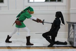 link vs dark link by carpathianwarrior