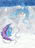 Articuno vs. Suicune by StarFirePL