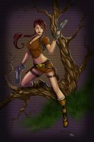 Lara Croft Colorisation by lovechin88