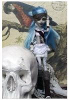 Monster High Repaint - Ghoulia Steampunk by mortimersparrow