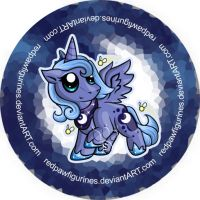 Princess Luna Chibi Badge by RedPawDesigns