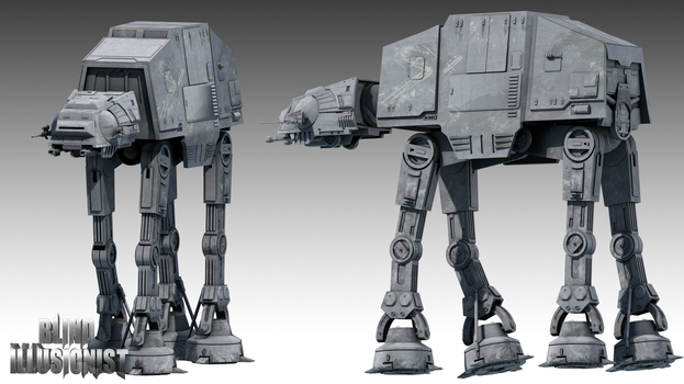AT-AT Walker - Blender 2.69 by BlindIllusionist