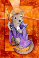 St. Otter and the Egg by ursulav