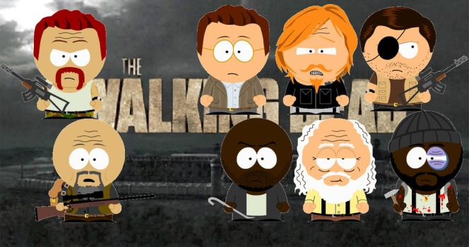 The Walking Dead South Park [2] by BloodyFlame-IronName