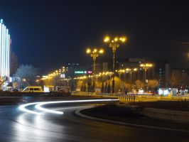 Bucharest, Piata Unirii at night by ddmkro