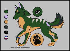 Andrew the Template Wolf by Tsuchi-Ookami-Kun